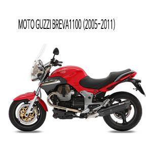 미브 브레바1100 (2005-2011) 수오노 블랙 스틸 슬립온 머플러 모토 구찌