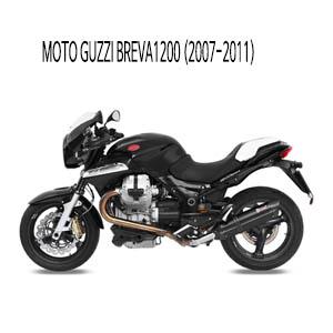 미브 브레바1200 블랙 스틸 슬립온 머플러 모토 구찌 (2007-2011) 수오노