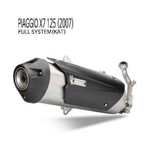 미브 X7 125 피아지오 (2007) 어반 스틸 풀시스템(KAT) 머플러