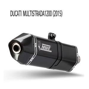 미브 멀티스트라다1200 (2015) BLACK 스틸 스피드엣지 슬립온 머플러 두카티