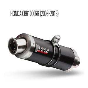 미브 CBR1000RR 머플러 혼다 (2008-2013) GP 블랙 스틸 슬립온