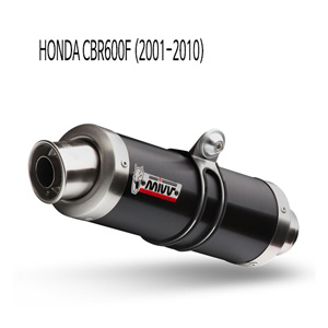 미브 CBR600F GP 블랙 스틸 (2001-2010) 슬립온 머플러 혼다