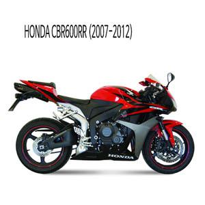 미브 (2007-2012) 블랙 스틸 슬립온 머플러 혼다 CBR600RR 수오노