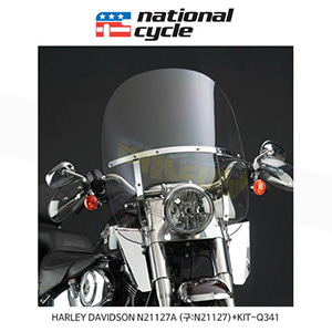 네셔널싸이클 할리데이비슨 HARLEY DAVIDSON 소프테일 FL 스위치 블레이드 2-Up 퀵 릴리즈 윈드쉴드+브라켓 윈드스크린 N21127A (구:N21127)+KIT-Q341