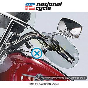 네셔널싸이클 할리데이비슨 HARLEY DAVIDSON 소프테일 핸드 디플렉터 (핸들에 윙카 없는 모델용) - 스모크 N5541