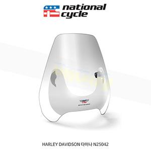 네셔널싸이클 할리데이비슨 HARLEY DAVIDSON 다이나 디플렉터 스크린 퀵셋 1인치(25mm) 핸들용 윈드스크린 - 클리어 N25042