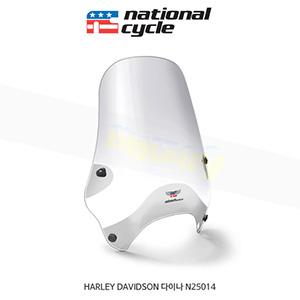 네셔널싸이클 할리데이비슨 HARLEY DAVIDSON 다이나 스트리트쉴드 퀵셋 1+1/4인치(32mm) 핸들용 윈드스크린 - 클리어 N25014