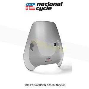 네셔널싸이클 할리데이비슨 HARLEY DAVIDSON 스포스터 디플렉터 스크린 퀵셋 1인치(25mm) 핸들용 윈드스크린 - 스모크 N25043