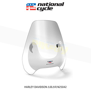 네셔널싸이클 할리데이비슨 HARLEY DAVIDSON 스포스터 디플렉터 스크린 퀵셋 1인치(25mm) 핸들용 윈드스크린 - 클리어 N25042