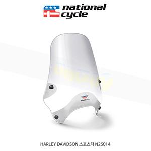 네셔널싸이클 할리데이비슨 HARLEY DAVIDSON 스포스터 스트리트쉴드 퀵셋 1+1/4인치(32mm) 핸들용 윈드스크린 - 클리어 N25014
