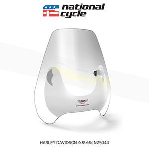 네셔널싸이클 할리데이비슨 HARLEY DAVIDSON 스포스터 디플렉터 스크린 퀵셋 1+1/4인치(32mm) 핸들용 윈드스크린 - 클리어 N25044