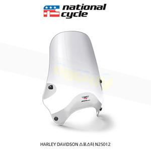 네셔널싸이클 할리데이비슨 HARLEY DAVIDSON 스포스터 스트리트쉴드 퀵셋 1인치(25mm) 핸들용 윈드스크린 - 클리어 N25012