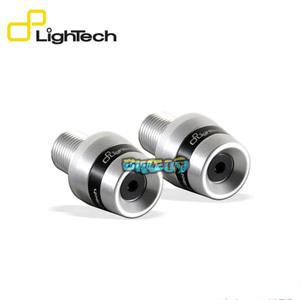 LIGHTECH 페어 OF 핸들바 엔드 COUNTERWEIGHTS 실버 컬러 WITH 블랙 링 - 야마하 티맥스 530 SX (17-19) 오토바이 부품 튜닝 파츠 KTM310SIL