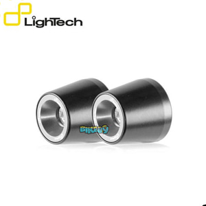 LIGHTECH 핸들바 엔드 캡 BALANCERS 컬러 실버 (페어) - 야마하 티맥스 530 SX (17-19) 오토바이 부품 튜닝 파츠 KTM210SIL