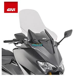 GIVI - 트랜스페어렌트 윈드쉴드 / 페어링 28 X 36.5CM - 야마하 티맥스 530 SX (17-19) 오토바이 부품 튜닝 파츠 D2133ST