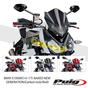 BMW S1000R(14-17) NAKED NEW GENERATION 퓨익 윈드 스크린 실드 (Carbon look/Red)