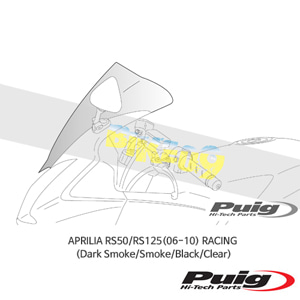 APRILIA RS50/RS125(06-10) RACING 퓨익 윈드스크린 (Dark Smoke/Smoke/Black/Clear)