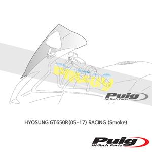 효성 GT650R(05-17) RACING 푸익 윈드 스크린 실드 (Smoke)