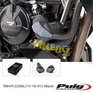 가와사키 Z250SL(15-16) R12 퓨익 프레임 슬라이더 엔진가드 (Black)