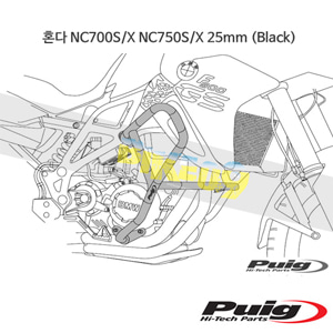 혼다 NC700S/X NC750S/X 25mm 푸익 엔진가드 (Black)