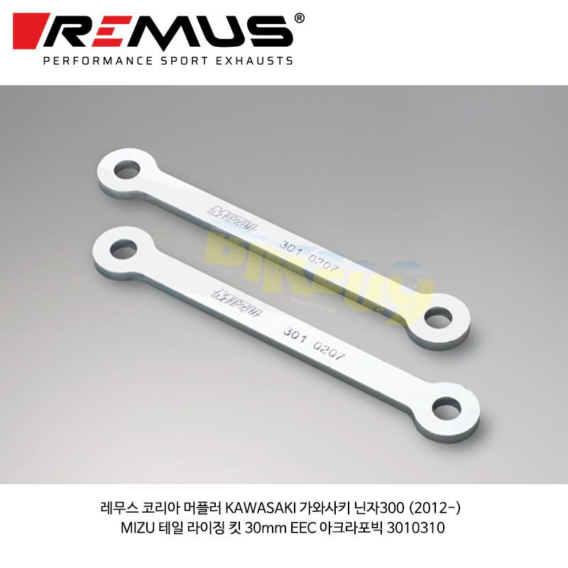 레무스 코리아 머플러 KAWASAKI 가와사키 닌자300 (2012-) MIZU 테일 라이징 킷 30mm EEC 아크라포빅 3010310