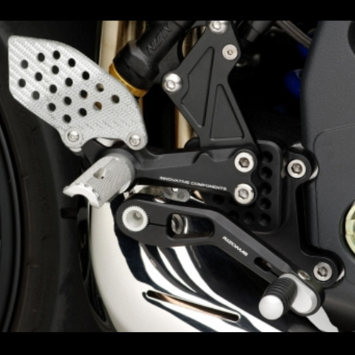 "리조마 TRIUMPH Speed Triple 1050 (2005 - 2011) Rear sets control Kit ""REV"""