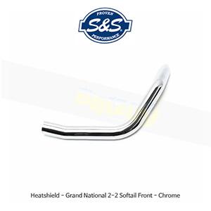 S&S 에스엔에스 머플러 히트실드 그랜드 내셔널 2-2 프론트 할리데이비슨 소프테일 모델용 - 크롬색상