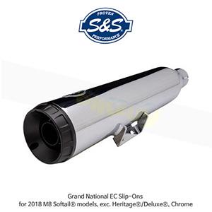 S&S 에스엔에스 머플러 그랜드 네셔널 EC 슬립온 할리데이비슨 M8 소프테일/헤리티지/디럭스(2018) 모델용 - 크롬색상 (550-0825)