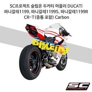 SC프로젝트 슬립온 두카티 머플러 DUCATI 파니갈레1199, 파니갈레1199S, 파니갈레1199R CR-T(중통 포함) Carbon