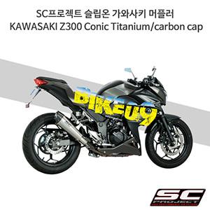 SC프로젝트 슬립온 가와사키 머플러 KAWASAKI Z300 Conic Titanium/carbon cap