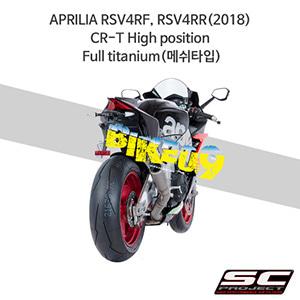 SC프로젝트 슬립온 아프릴리아 머플러 APRILIA RSV4RF, RSV4RR(2018) CR-T High position Full titanium(메쉬타입)