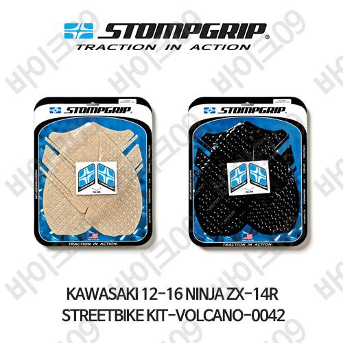 가와사키 12-16 닌자 ZX-14R STREETBIKE KIT-VOLCANO-0042 스텀프 테크스팩 오토바이 니그립 패드