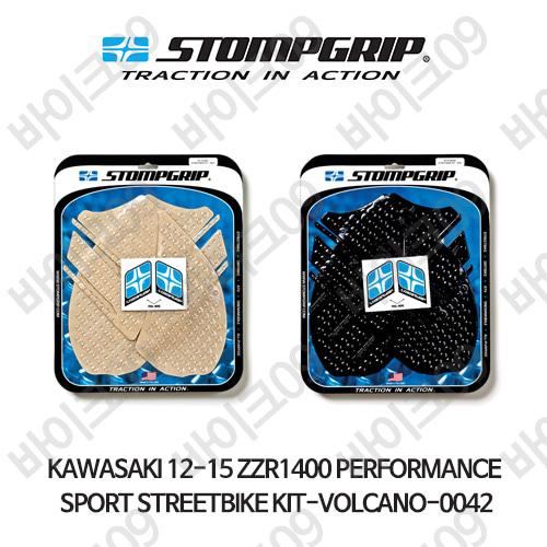가와사키 12-15 ZZR1400 PERFORMANCE SPORT STREETBIKE KIT-VOLCANO-0042 스텀프 테크스팩 오토바이 니그립 패드