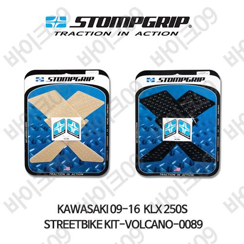 가와사키 09-16  KLX 250S STREETBIKE KIT-VOLCANO-0089 스텀프 테크스팩 오토바이 니그립 패드