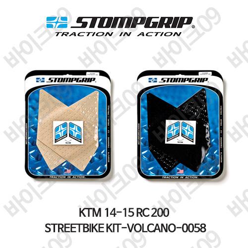 KTM 14-15 RC200 STREETBIKE KIT-VOLCANO-0058 스텀프 테크스팩 오토바이 니그립 패드