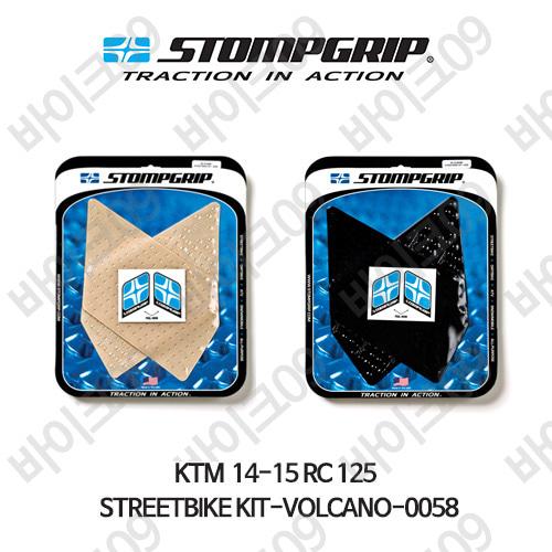 KTM 14-15 RC125 STREETBIKE KIT-VOLCANO-0058 스텀프 테크스팩 오토바이 니그립 패드