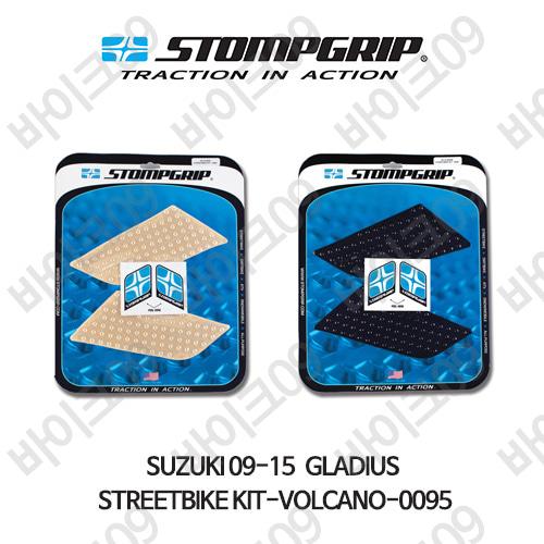 스즈키 09-15 GLADIUS STREETBIKE KIT-VOLCANO-0095 스텀프 테크스팩 오토바이 니그립 패드