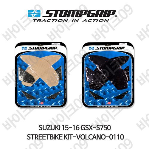 스즈키 15-16 GSX-S750 STREETBIKE KIT-VOLCANO-0110 스텀프 테크스팩 오토바이 니그립 패드