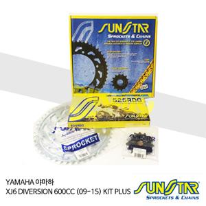 YAMAHA 야마하 XJ6 DIVERSION 600CC (09-15) KIT PLUS 대소기어 체인세트 SUNSTAR