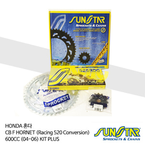 HONDA 혼다 CBF HORNET (Racing 520 Conversion) 600CC (04-06) KIT PLUS 대소기어 체인세트 SUNSTAR
