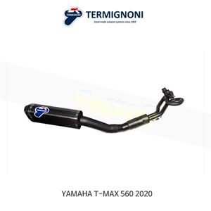 떼르미뇨니 COMPLETE EXHAUST 카본 블랙 야마하 T맥스560 (20) Y11309000BCC