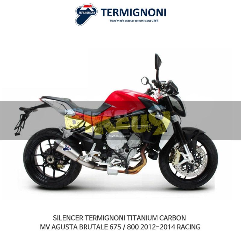 떼르미뇨니 오토바이 머플러 MVAGUSTA MV아구스타 브루탈레675/800 (12-14) RACING 티탄 카본 슬립온