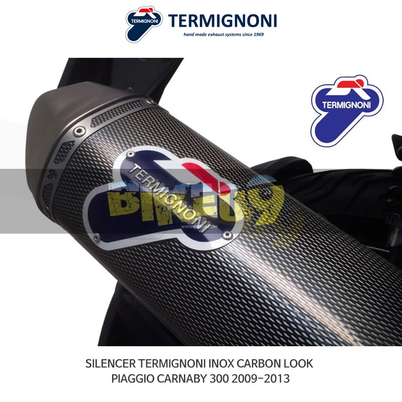 떼르미뇨니 오토바이 머플러 PIAGGIO 피아지오 카나비300 (09-13) INOX 카본룩 슬립온