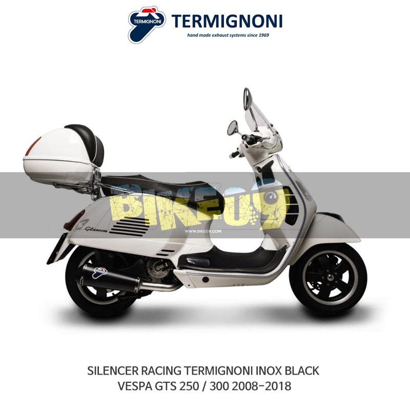 떼르미뇨니 오토바이 머플러 VESPA 베스파 GTS250/300 (08-18) RACING INOX 블랙 슬립온