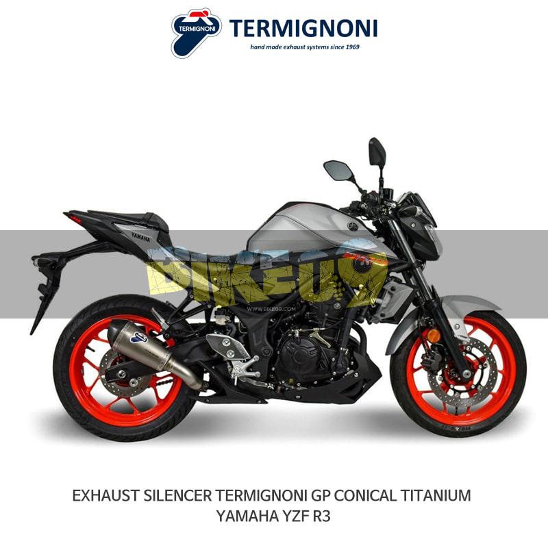 떼르미뇨니 오토바이 머플러 YAMAHA 야마하 YZF R3 (15-20) GP CONICAL 티탄 슬립온