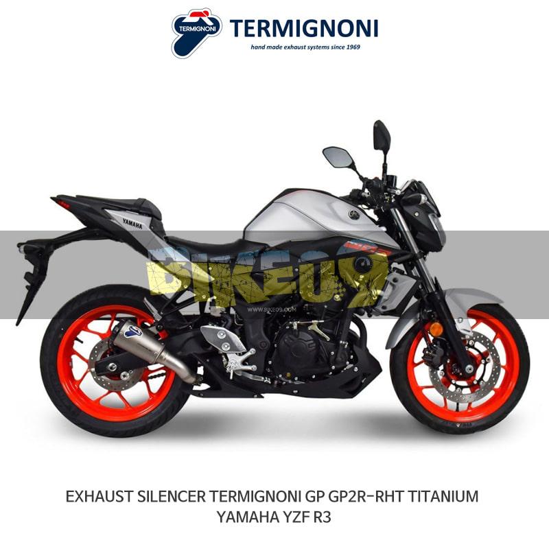 떼르미뇨니 오토바이 머플러 YAMAHA 야마하 YZF R3 (15-20) GP2R-RHT 티탄 슬립온