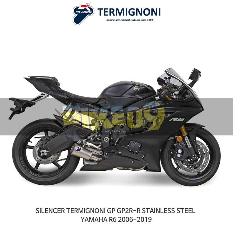 떼르미뇨니 오토바이 머플러 YAMAHA 야마하 YZF R6 (06-19) GP2R-R 스텐리스 스틸 슬립온