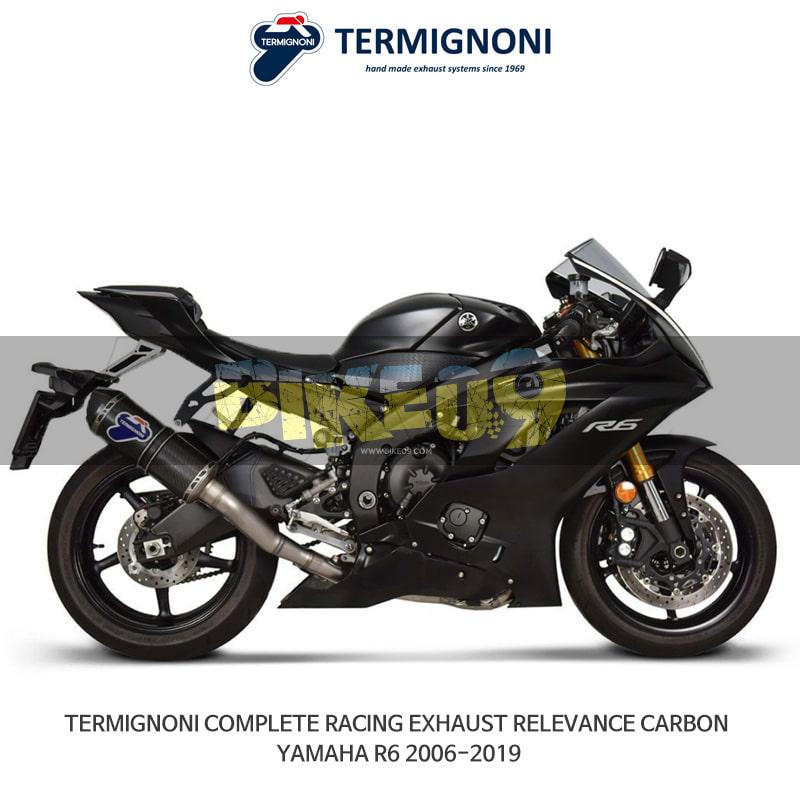 떼르미뇨니 오토바이 머플러 YAMAHA 야마하 YZF R6 (06-19) RACING RELEVANCE 카본 풀시스템