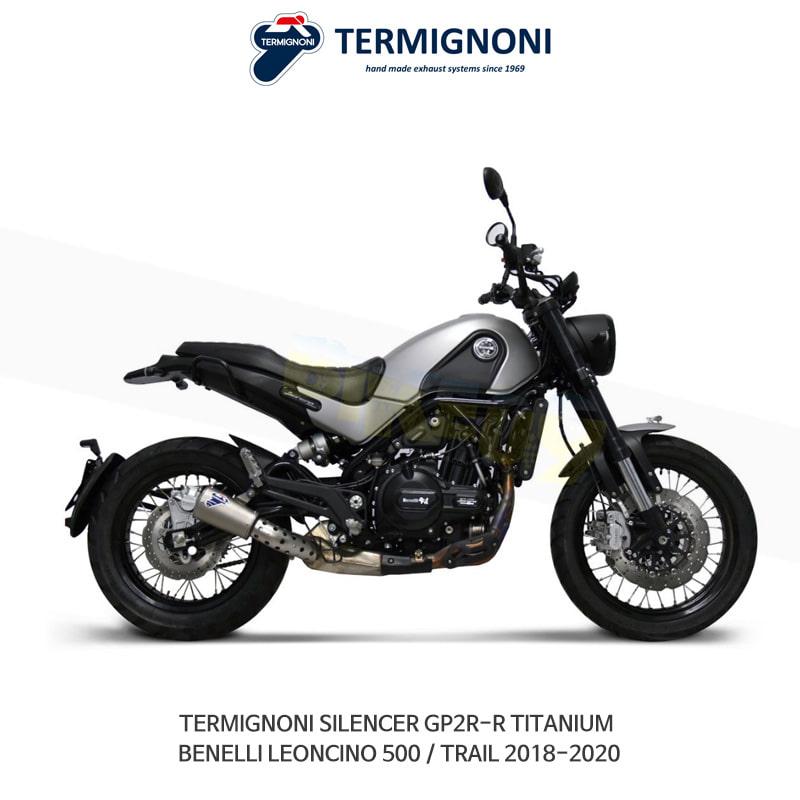떼르미뇨니 오토바이 머플러 BENELLI 베넬리 레온치노500/트레일 (18-20) GP2R-R 티탄 슬립온