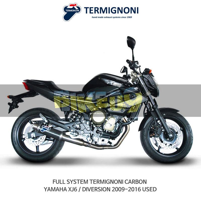 떼르미뇨니 오토바이 머플러 YAMAHA 야마하 XJ6/DIVERSION (09-16) USED 카본 풀시스템